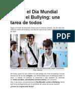 Hoy Es El Día Mundial Contra El Bullying