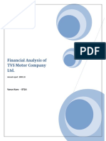 Financial Analysis of TVS Motor Company Ltd