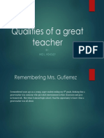 qualities of a great teacher
