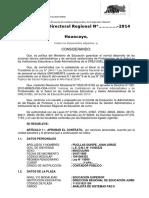 RESOLUCIÓN DIRECTORAL REGIONAL N° 000101 - 2014