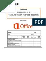 Laboratorio 03 - Tabuladores y Texto en Columnas