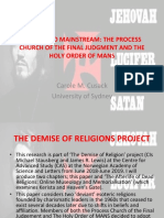 Deviant to Mainstream the Process Church