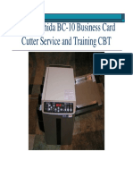 BC-10 Business Card Cutter Service and Training CBT