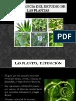 1. Importancia Del Estudio de Las Plantas