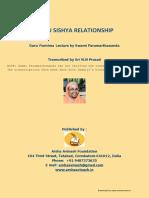 Guru Sisya Relationship