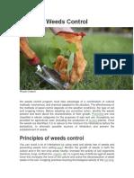 Weeds Control