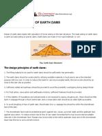 Design Principles of Earth Dams