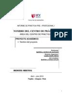 Informe de Práctica Pre – Profesional i