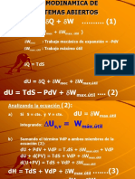 Termodinámica de Sistemas Abiertos.