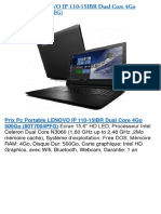 Pc Portable Lenovo Ip 110-15ibr Dual Core 4go