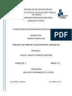 Analisis Los Fines de La Educacion de Juan Delval