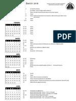 Calendario CENSES 2018