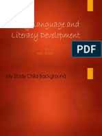 early language and literacy development
