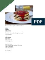 Resep Pancake Ricotta Ala Prancis