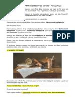 Estratégias Para Rendimento No Estudo - Pierluigi Piazzi