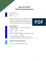 District Survey Questionnaire