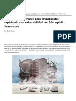 2 Pruebas de Penetración Explotando Una Vulnerabilidad Con Metasploit Framework