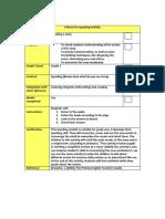 brown speaking checklist