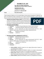 INFORME N° 136 DEL Sr. Marcos Frisancho Benavente SUB LOTE 1 - RESOLUCION DE INDEPENDIZACION DE PREDIO RUSTICO 2018