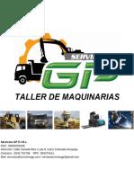 Brochure Taller de Maquinarias Servicios GP