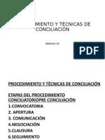 Procedimiento y Técnicas de Conciliación