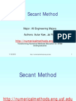 4. Secant Method