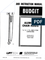 Aluminum Chain Hoists - March 1987 113534-01