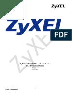 VMG1312-B10A CLI Reference Manual