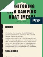 PPT Monitoring Efek Samping Obat (MESO)