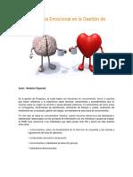 La Inteligencia Emocional en La Gestic3b3n de Proyectos