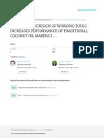 Ergonomic Redesign of Working Tools Increases Perf