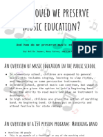 why should we preserve music education