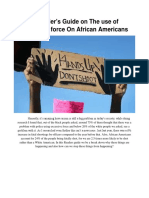a readers guide on the use of excessive force on african americans  2