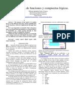 Simplificación de funciones y compuertas lógicas.