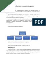 Clasificación de Compuestos Inorgánicos
