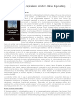 Ana March – Vivir en la época del capitalismo artístico. Gilles Lipovetsky, Jean Serroy.pdf