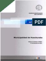 Informe Final 57-13 Municipalidad de Huechuraba- Fagem y Remuneraciones - Diciembre 2013