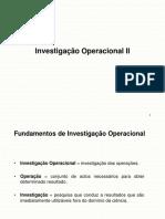 Investigaçao Operacional II Progra. Dinamica Aula 2