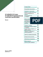 SIMATIC. S7-GRAPH V5.2 Para S7-300_400 Programación de Controles Secuenciales. Prológo, Índice. Presentación Del Producto. Instalación y Autorización