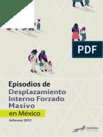 Informe de Desplazamiento Interno Masivo en Mexico 2017