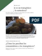 Informacion Cultivos Transgenicos