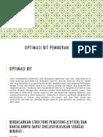 Optimasi Bit Pemboran-DAVID SAMUDRA 113150069