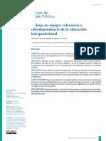 Tamayo - Trabajo en Equipo, Relevancia e Interdependencia de La Educacion Interprofesional