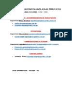 Estrutura Administrativa Grupo Jeolog Transportes