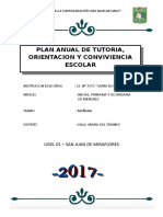 Plan de Trabajo Tutoria 2018
