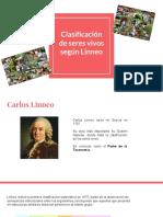 Clasificación de Seres Vivos Según Linneo