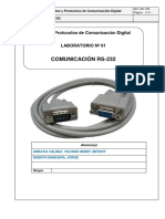 Laboratorio 01 - Comunicacion RS232.