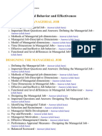 Managerial Behavior and Effectiveness - Lecture Notes, Study Material and Important Questions, Answers