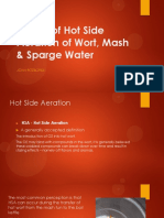 Effects of Hot Side Aeration of Wort, Mash and Sparge Water