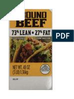 Ground beef recall FSIS labels